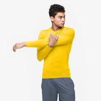 Eastbay EVAPOR Core Long Sleeve Compression Crew - Men's - Gold / Gold