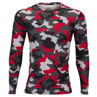 Eastbay EVAPOR Core Long Sleeve Compression Crew - Men's - Red / Black