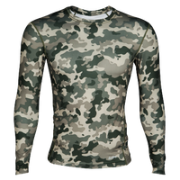 Eastbay EVAPOR Core Long Sleeve Compression Crew - Men's - Dark Green / Olive Green