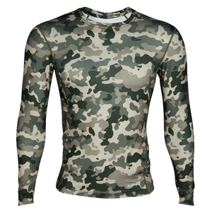 Eastbay EVAPOR Core Long Sleeve Compression Crew - Men's - Green