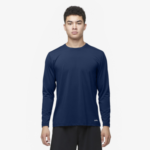 Eastbay EVAPOR Core Performance Training L/S - Men's - Navy