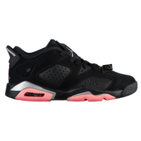 jordan shoes for girls black and pink. jordan retro 6 low - girls\u0027 grade school black / pink shoes for girls and a