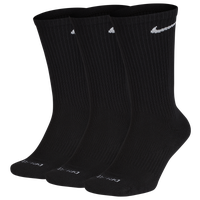 Nike 3 Pack Dri-FIT Plus Crew Socks - Men's - Black