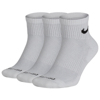 Nike 3 Pack Dri-FIT Plus Quarter Socks - Men's - White