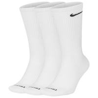 Nike 3 Pack Dri-FIT Plus Lightweight Crew Socks - Men's - White