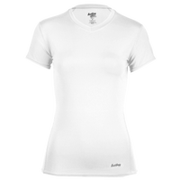 Eastbay EVAPOR Core Short Sleeve Compression Top - Women's - All White / White