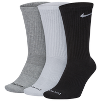 Nike 3 Pack Dri-FIT Plus Lightweight Crew Socks - Men's - White / Grey