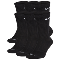 Nike 6 Pack Dri-FIT Plus Crew Socks - Men's - Black