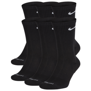 Nike 6 Pack Dri-FIT Plus Crew Socks - Men's - Black/White