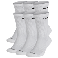Nike 6 Pack Dri-FIT Plus Crew Socks - Men's - White