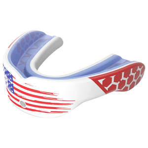 Shock Doctor Gel Max Power Mouthguard - Grade School - Usa Flag/White