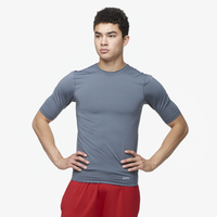 Eastbay EVAPOR Core Half Sleeve Compression Top - Men's - Grey / Grey