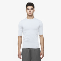 Eastbay EVAPOR Core Half Sleeve Compression Top - Men's - All White / White