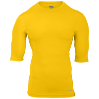 Eastbay EVAPOR Core Half Sleeve Compression Top - Men's - Gold / Gold