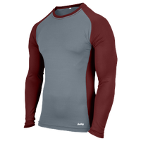 Eastbay Evapor L/S Baseball Compression Top - Boys' Grade School - Maroon / Grey
