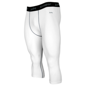 Eastbay EVAPOR Core Compression 3/4 Tights 2.0 - Men's - White/Grey