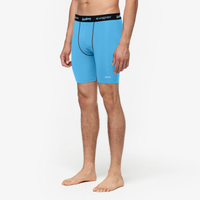 "Eastbay EVAPOR Core 8"" Compression Shorts 2.0 - Men's - Light Blue / Black"