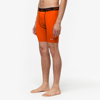 "Eastbay EVAPOR Core 8"" Compression Shorts 2.0 - Men's - Orange / Black"
