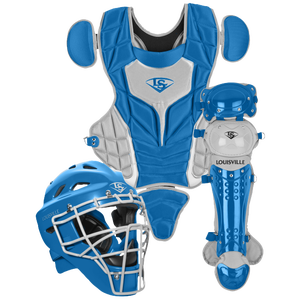 Louisville Slugger Series 5 3-Piece Catcher's Set - Grade School - Royal/Grey