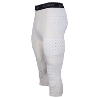 Eastbay Padded Compression 3/4 Tights - Men's - White / Black
