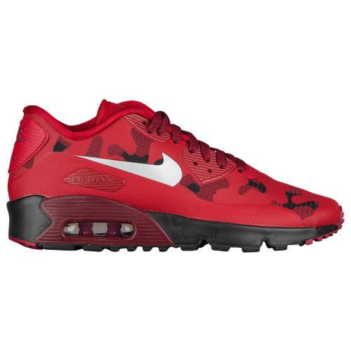 60e5dfcf09 Nike Air Max 90 - Boys' Grade School - Running - Shoes - Gym Red/Reflect  Silver/Team Red/Black