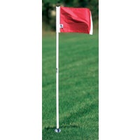 Kwik Goal Official Corner Flags (Set of 4) - White / Red
