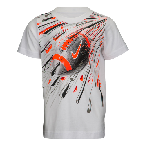 03213fbec Nike Graphic T-Shirt - Boys' Preschool - Casual - Clothing - White/Hyper  Crimson/Midnight Fog/University Red