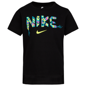 Nike School Out S/S T-Shirt - Girls' Grade School - Black/Volt