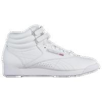 2dc1fb3cfcd47 Reebok Freestyle Hi - Women s - White   Silver