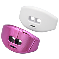 Grip Gear Sports Reflex Chrome Lip-Guards - Pink / White