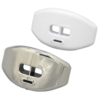 Grip Gear Sports Reflex Chrome Lip-Guards - Silver / White