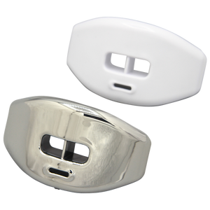 Grip Gear Sports Reflex Chrome Lip-Guards - Silver/White