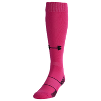 Under Armour Team Over the Calf Socks - Grade School - Pink / Black