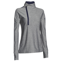 Under Armour Team Hotshot 1/2 Zip - Women's - Grey / Navy