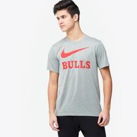 7332d889592c Nike NBA Swoosh Team T-Shirt - Men s - Chicago Bulls - Grey   Red