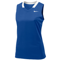 Nike Team Face-Off Sleeveless Game Jersey - Women's - Blue / White