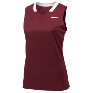 Nike Team Face-Off Sleeveless Game Jersey - Women's - Team Cardinal/White