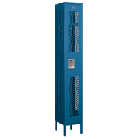 Salsbury Assembled Single Tier Vented Locker - Blue / Blue
