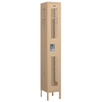 Salsbury Unassembled Single Tier Vented Locker - Tan / Tan