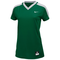 Nike Team Dri-FIT Game Top - Women's - Dark Green / Grey