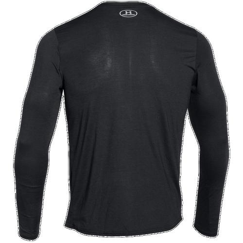 Under Armour HeatGear Streaker Long Sleeve Top - Men's - Running - Clothing  - Black/Steel/Reflective