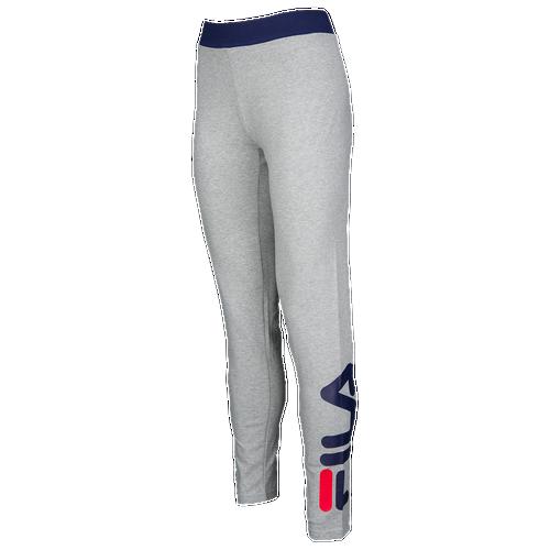 Fila Imelda Side Print Leggings - Women's - Grey / Navy