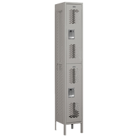 Salsbury Assembled Double Tier Vented Locker - Grey / Grey