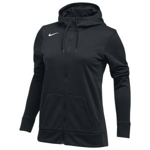 Nike Team Full-Zip Therma Hoodie - Women's - Black/White