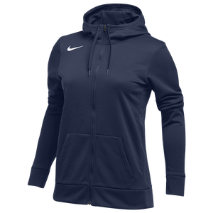 Nike Team Full-Zip Therma Hoodie - Women's - Navy/White