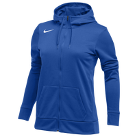Nike Team Full-Zip Therma Hoodie - Women's - Blue / Blue