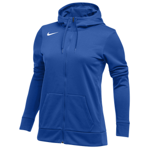 Nike Team Full-Zip Therma Hoodie - Women's - Royal/White