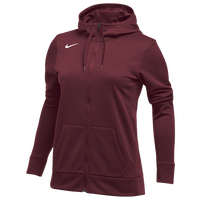 Nike Team Full-Zip Therma Hoodie - Women's - Cardinal / Cardinal