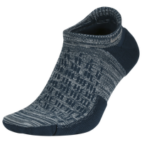 Nike Elite Cushioned No-Show Running Socks - Grey / Dark Green