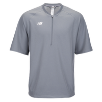 New Balance Short Sleeve 3000 Batting Jacket - Men's - Grey / Grey